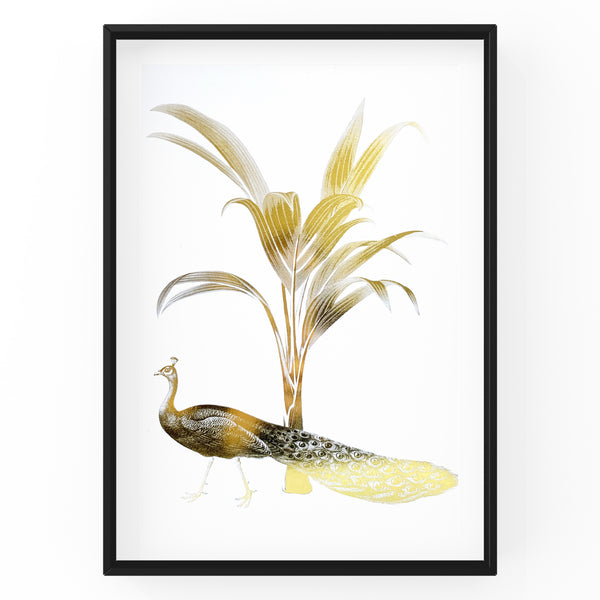 Peacock & Palm Tree - Foil Print