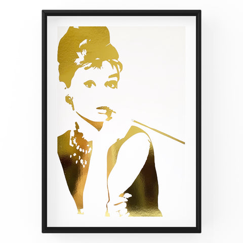 Audrey Hepburn - Wall Art Foil Prints