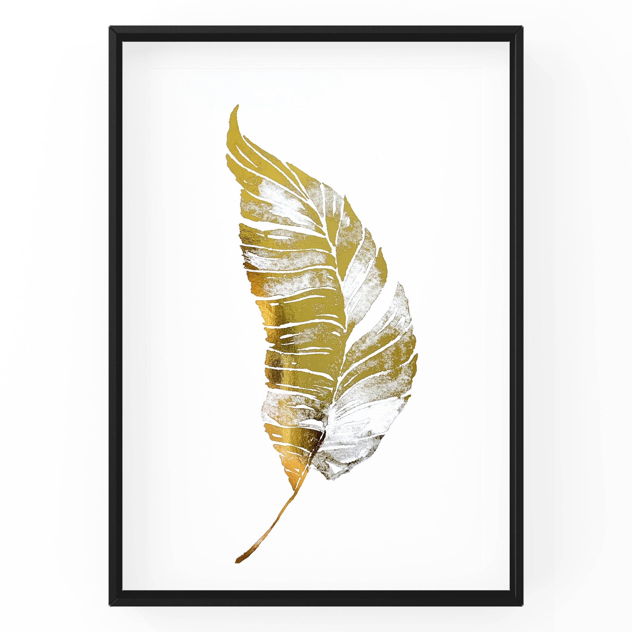 Feather Leaf - Foil Print