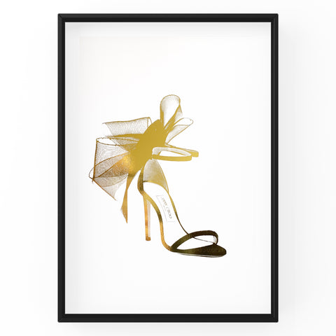 Jimmy Choo With Bow Sandal - Foil Print