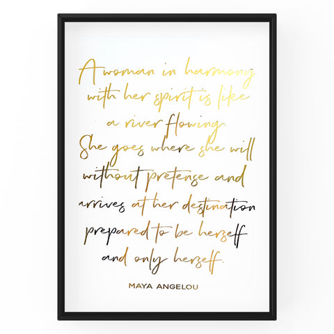 A Woman In Harmony - Foil Print