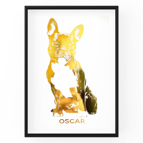 Personalised Dog Portraits - Foil Prints