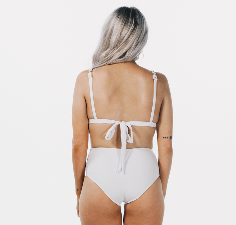 High Waisted Bottom White