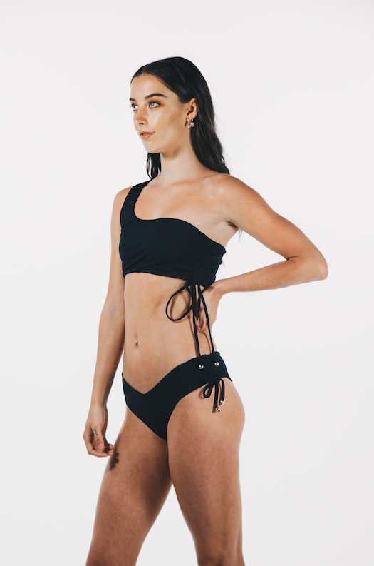 Luxe Drawstring Bottom Black