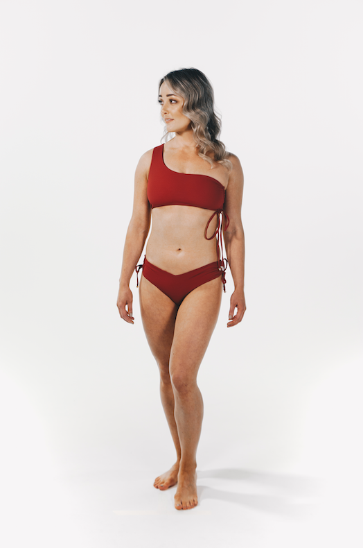 Luxe Drawstring Top Maroon