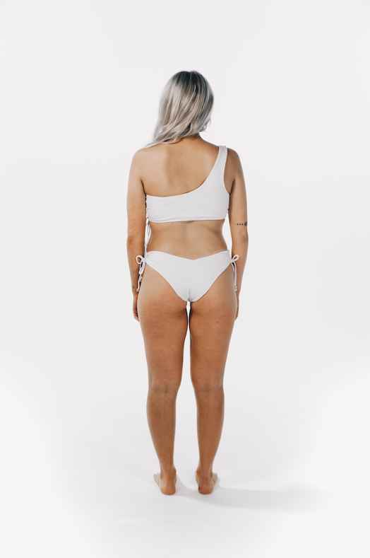 Luxe Drawstring Top White