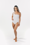 Luxe Drawstring One Piece White