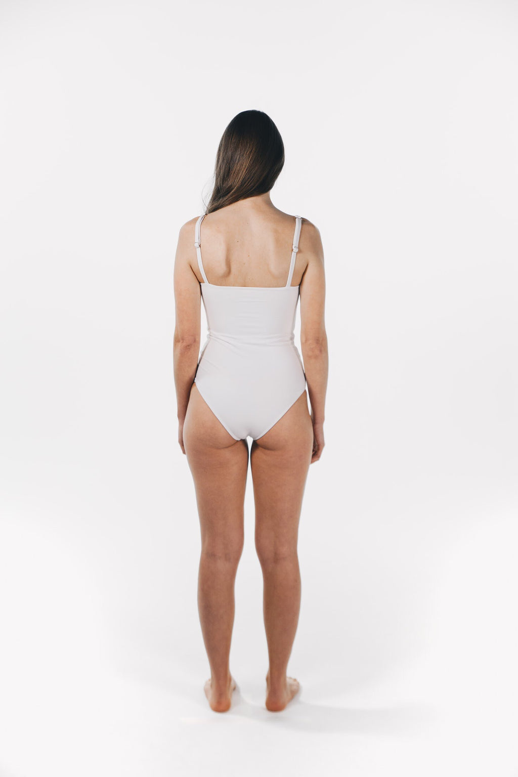 Straight Neck One Piece White