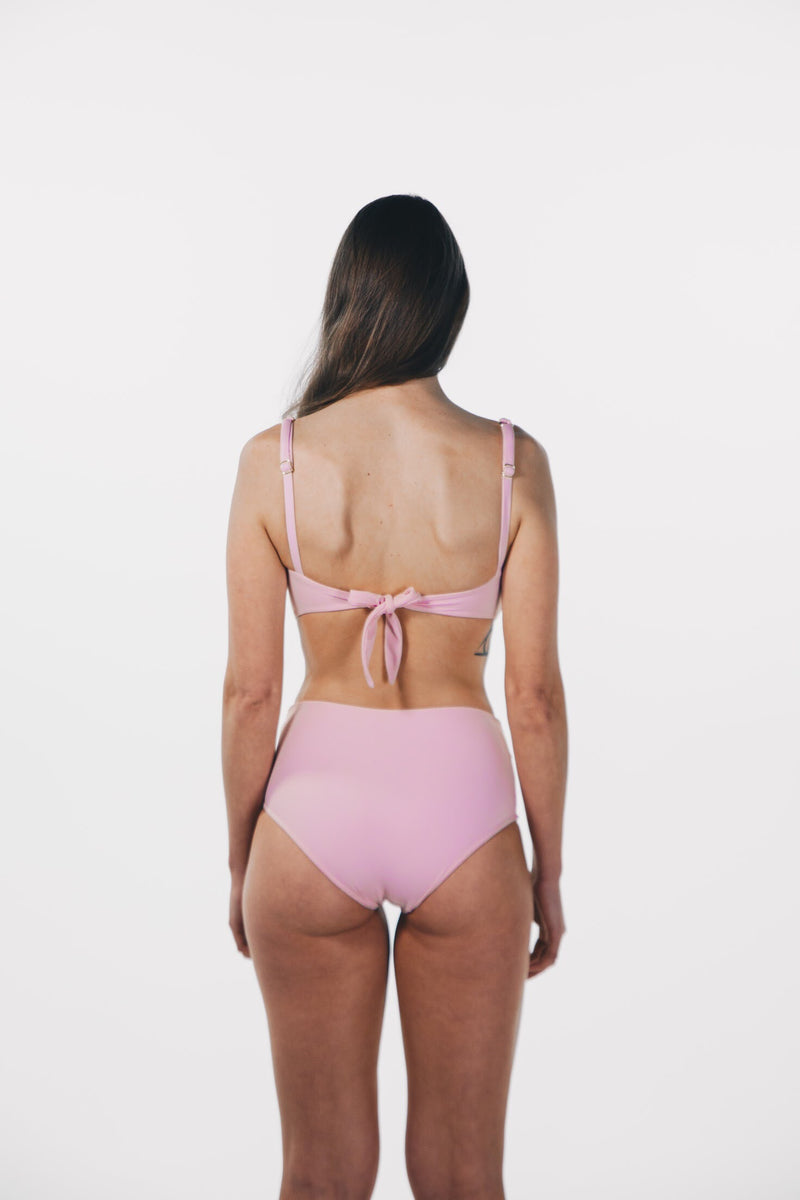 Crystalline Bandeau Top Baby Pink