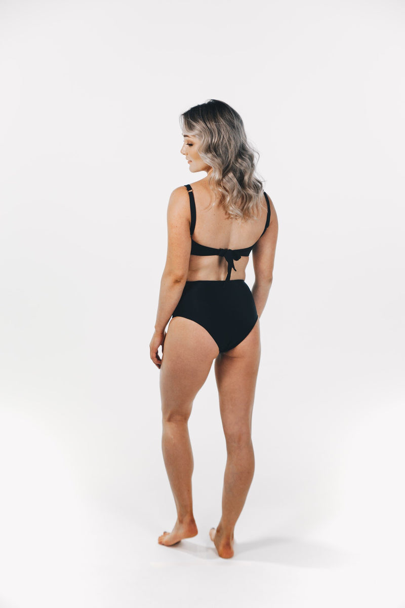 Crystalline Bandeau Top Black