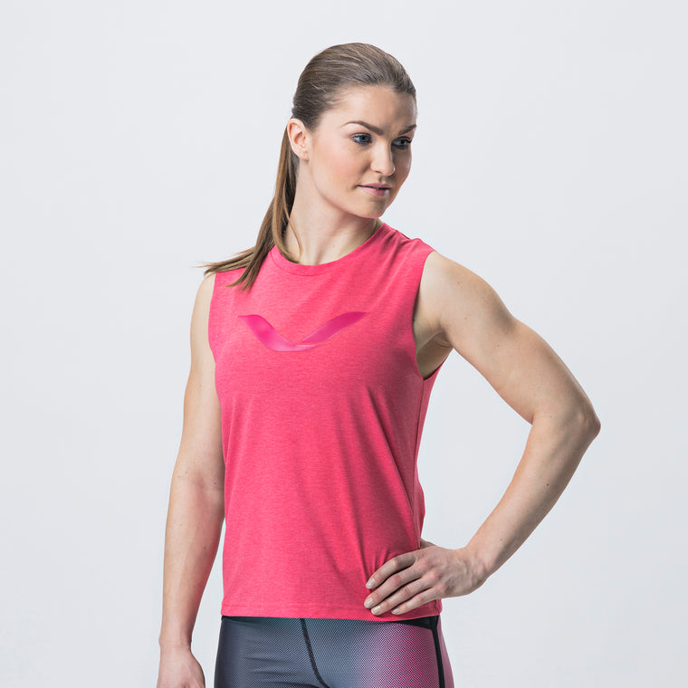 Grip Tank Top, Women <br>Rose Red