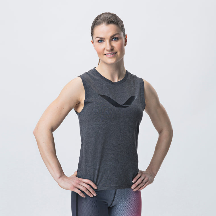 Grip Tank Top, Women <br>Jet Black