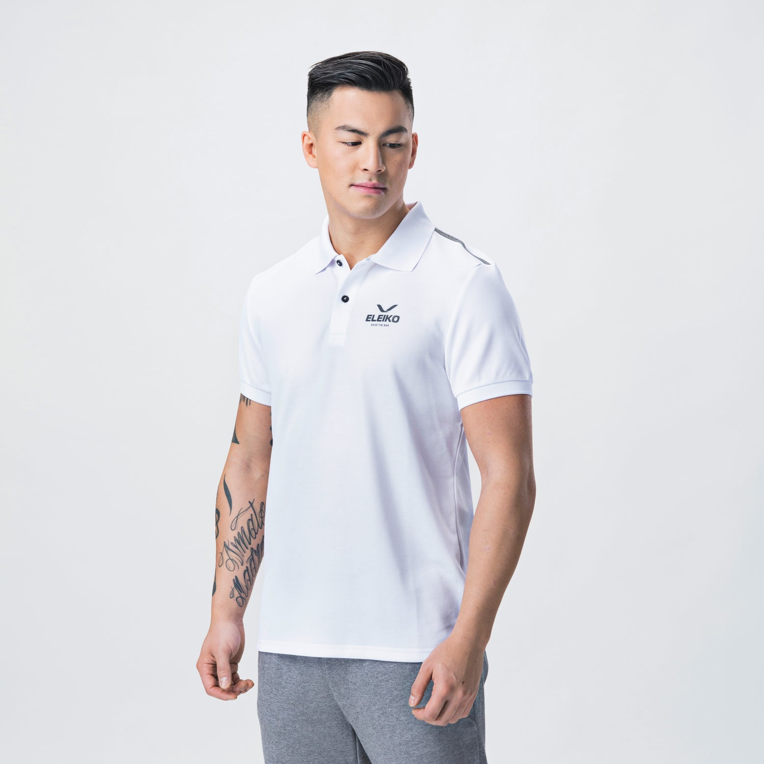 Energy Polo, Men <br>White