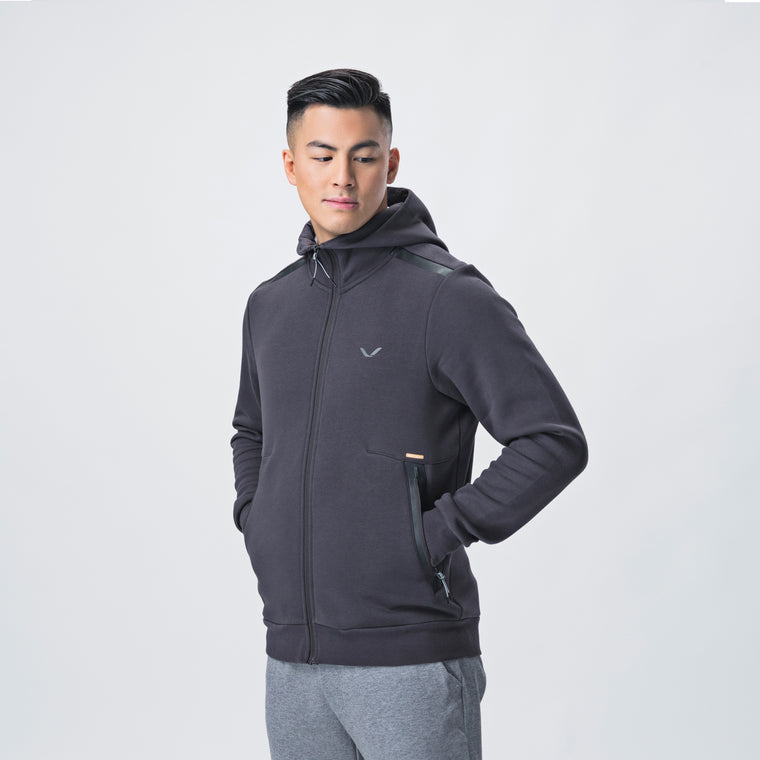 Focus Hood, Men <br> Strong Grey