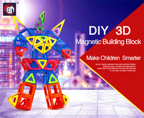 3D Magnetic Building Block Toy Set For Children
