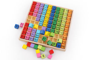 Wooden Educational Multiplication Table – Arithmetic Teaching Aid