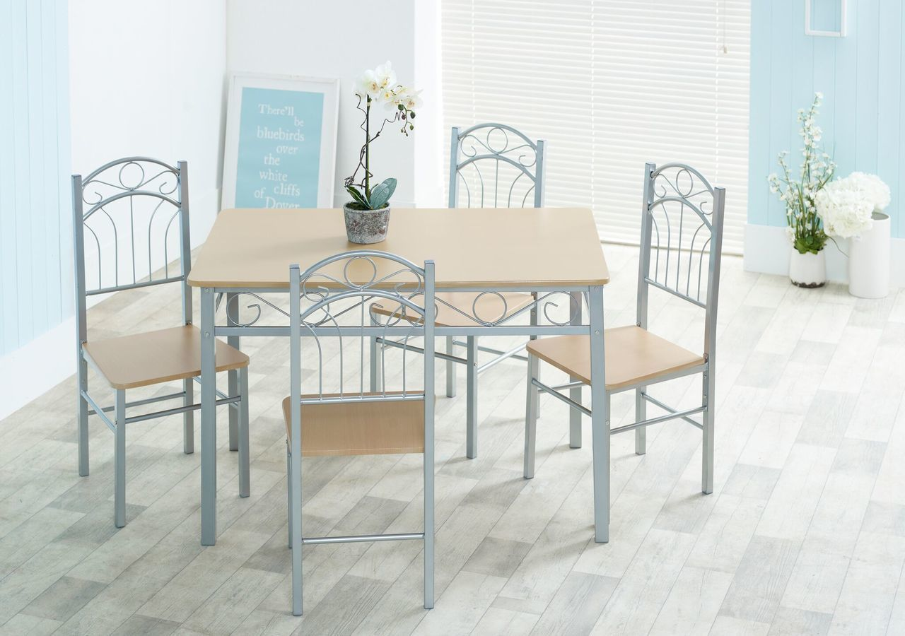 Prime Louis Dining Set 4 Chairs Spiritservingveterans Wood Chair Design Ideas Spiritservingveteransorg