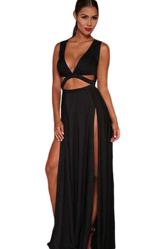 Black Jersey Craving Maxi Dress