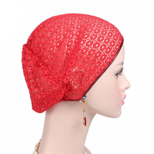 Knitted Cotton Hats for Women Hat Beanie Scarf Turban Head Wrap Cap Winter Warm Caps