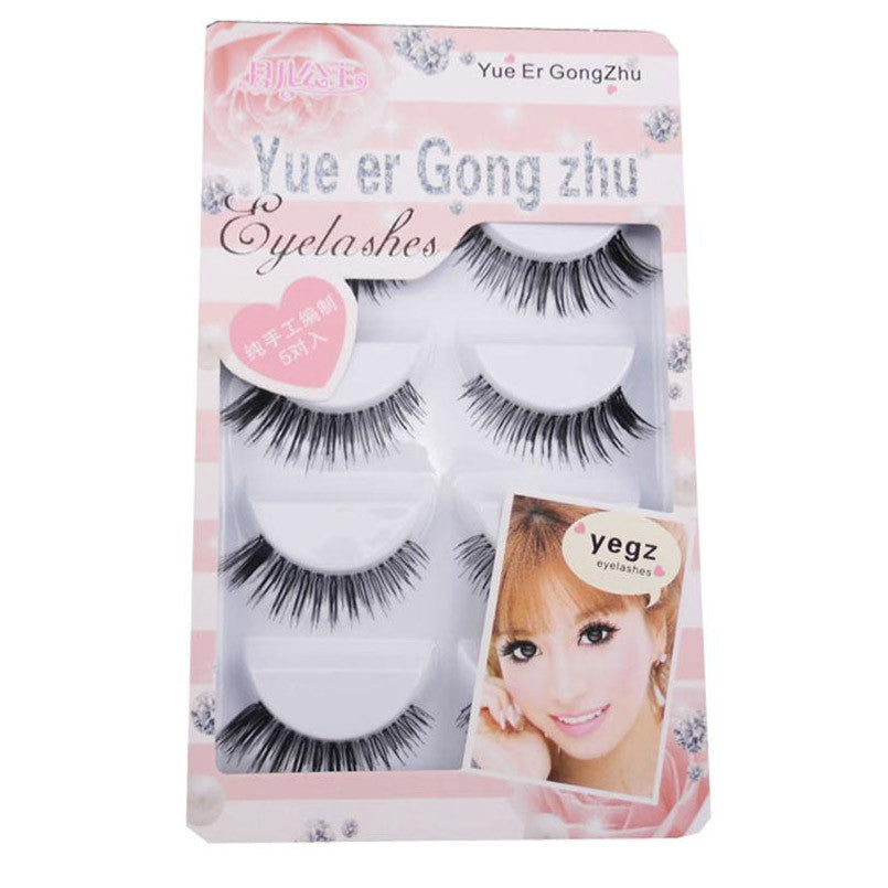 10Pairs Long Cross False Eyelashes Makeup Natural Fake Thick Black Eye Lash