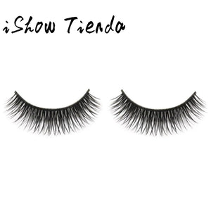 1Pair Handmade Natural Fashion False Eyelashes Soft Long Eye Lash Cosmetic &30
