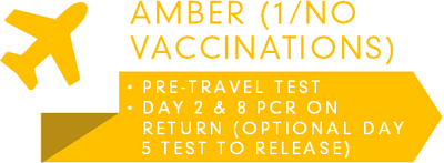 Amber List Travel Test Requirements