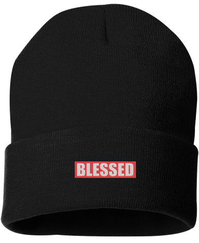 BLESSED BLACK BEANIE