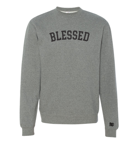 BLESSED GRAY CREWNECK