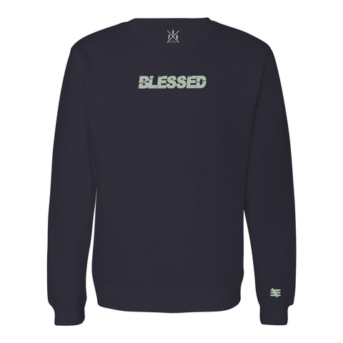 BLESSED 2.0 NAVY CREWNECK