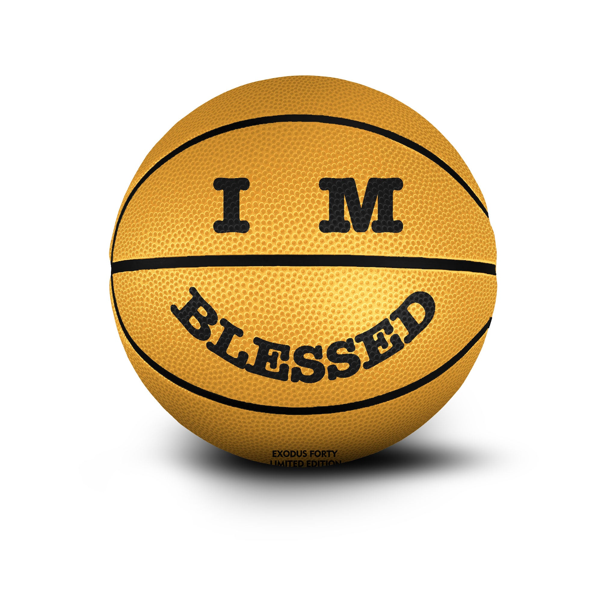 IM BLESSED SMILEY - BASKETBALL