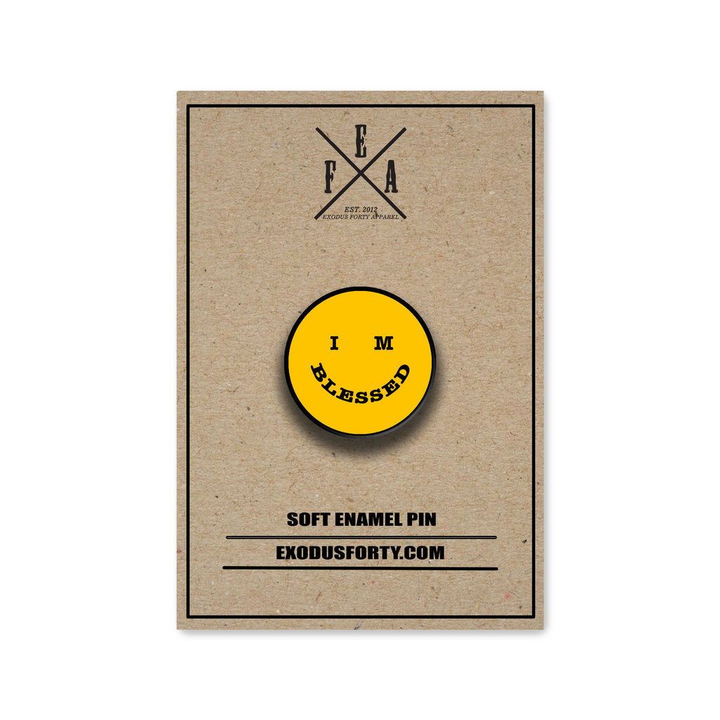 IM BLESSED SMILEY FACE - ENAMEL PIN