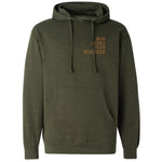 NOT LUCKY OLD PRESS TYPE - ARMY HEATHER HOODIE