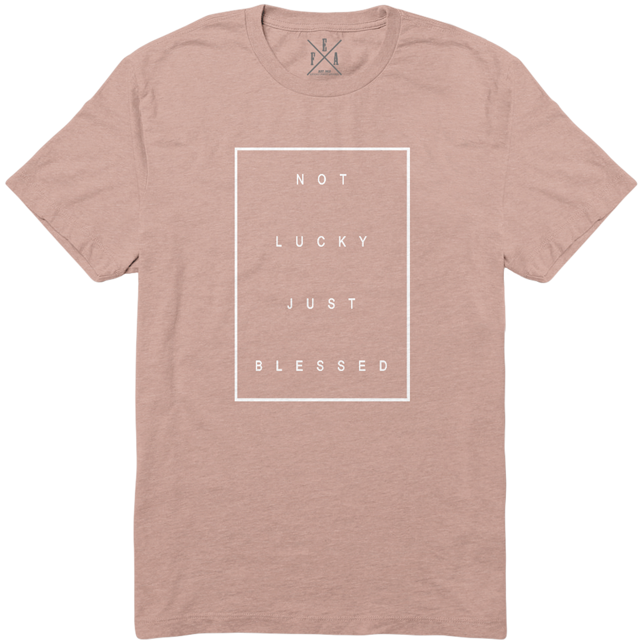 NOT LUCKY JUST BLESSED  - PEACH  TSHIRT