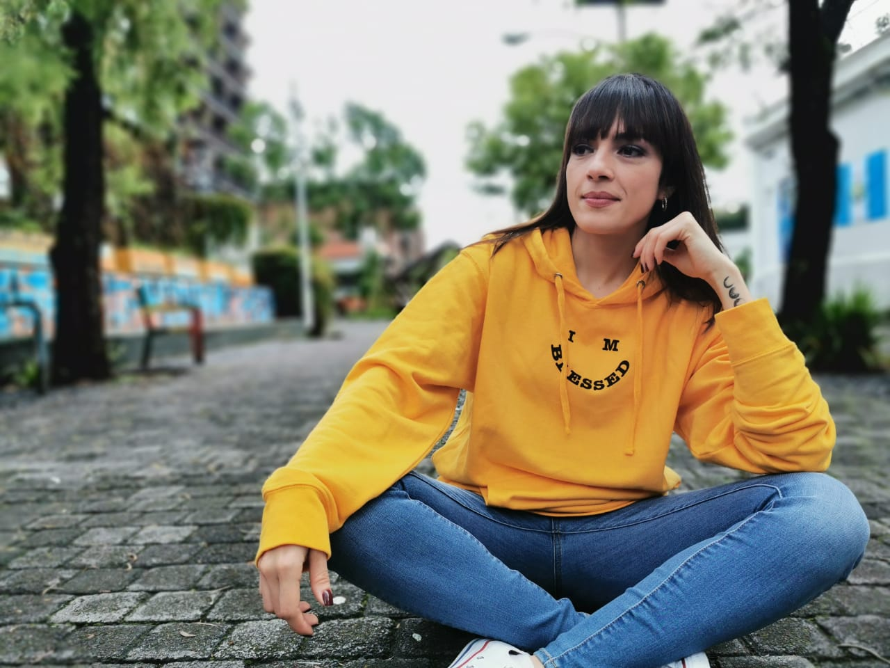 HAPPY BLESSED FACE HOODIE
