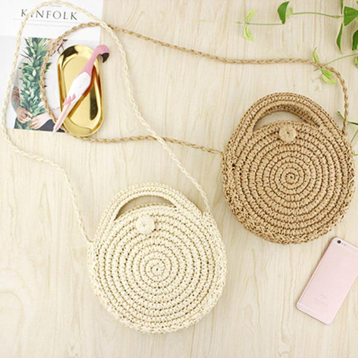 Round Beach Crossbody Boho Bag