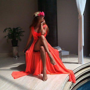 Swimwear Cover Up Long Robe for Women - Hooked On Saving