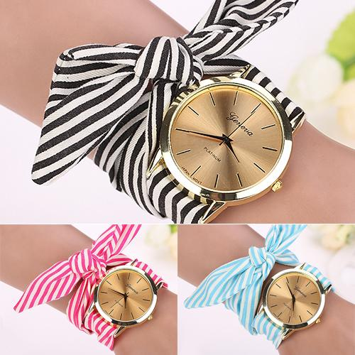 Women Scarf Band Vintage Fashion Watch