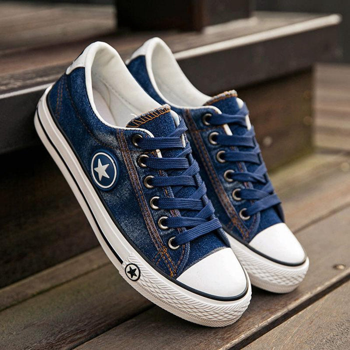 Classic Denim Low-Top Sneakers for Women
