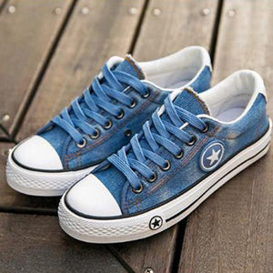 Classic Denim Low-Top Sneakers for Women - Hooked On Saving