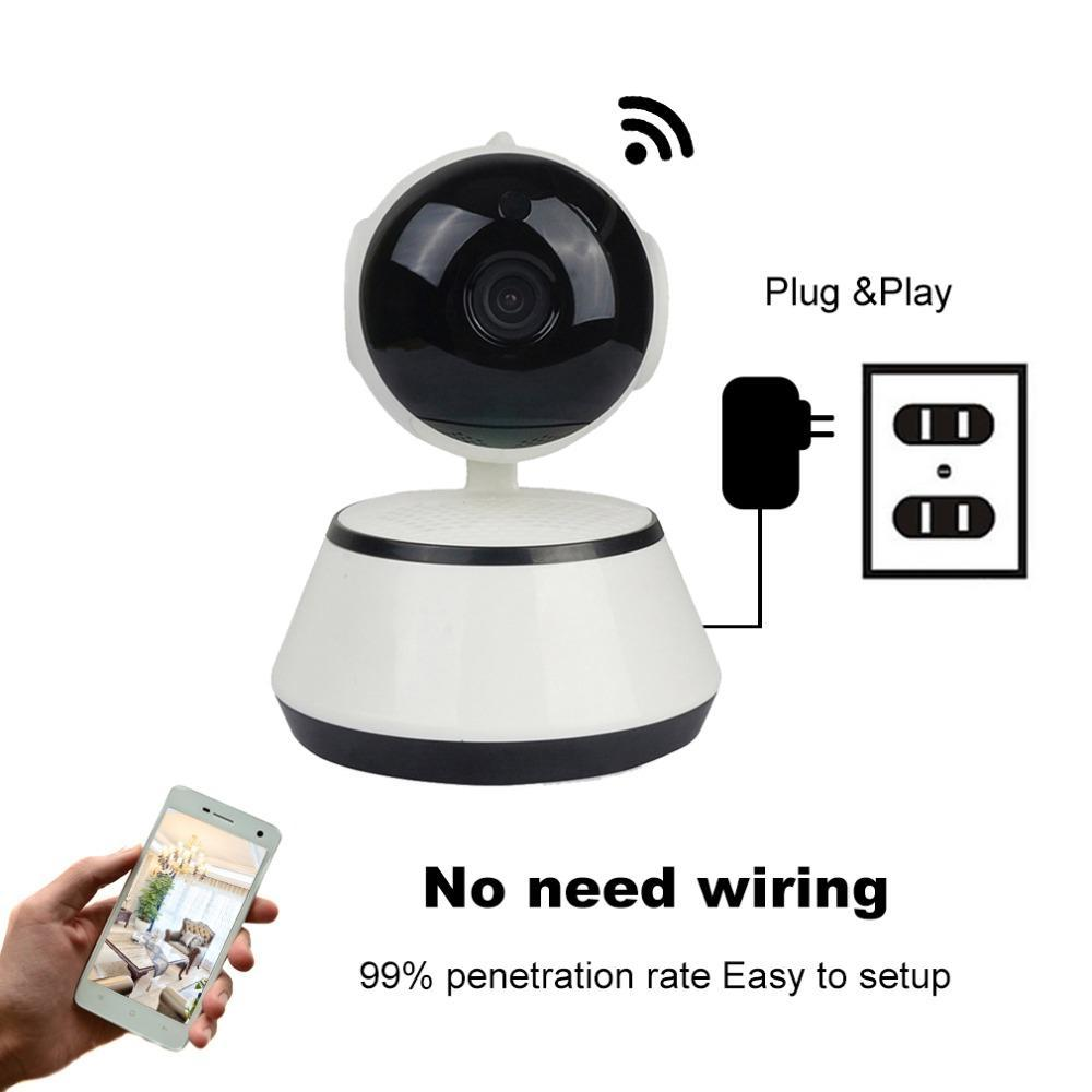 2 Way Talk Hd Security Camera With Night Vision No Wires Needed Surveillance Wiring Hooked