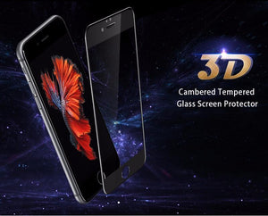 Electronics - 3D Crystal Clear Curved Edge Tempered Glass Full Screen Protector For IPhone
