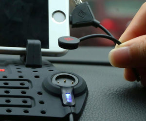 Car Dash Gripping Phone Stand and Fast Charging Station for iPhone and Android - Hooked On Saving