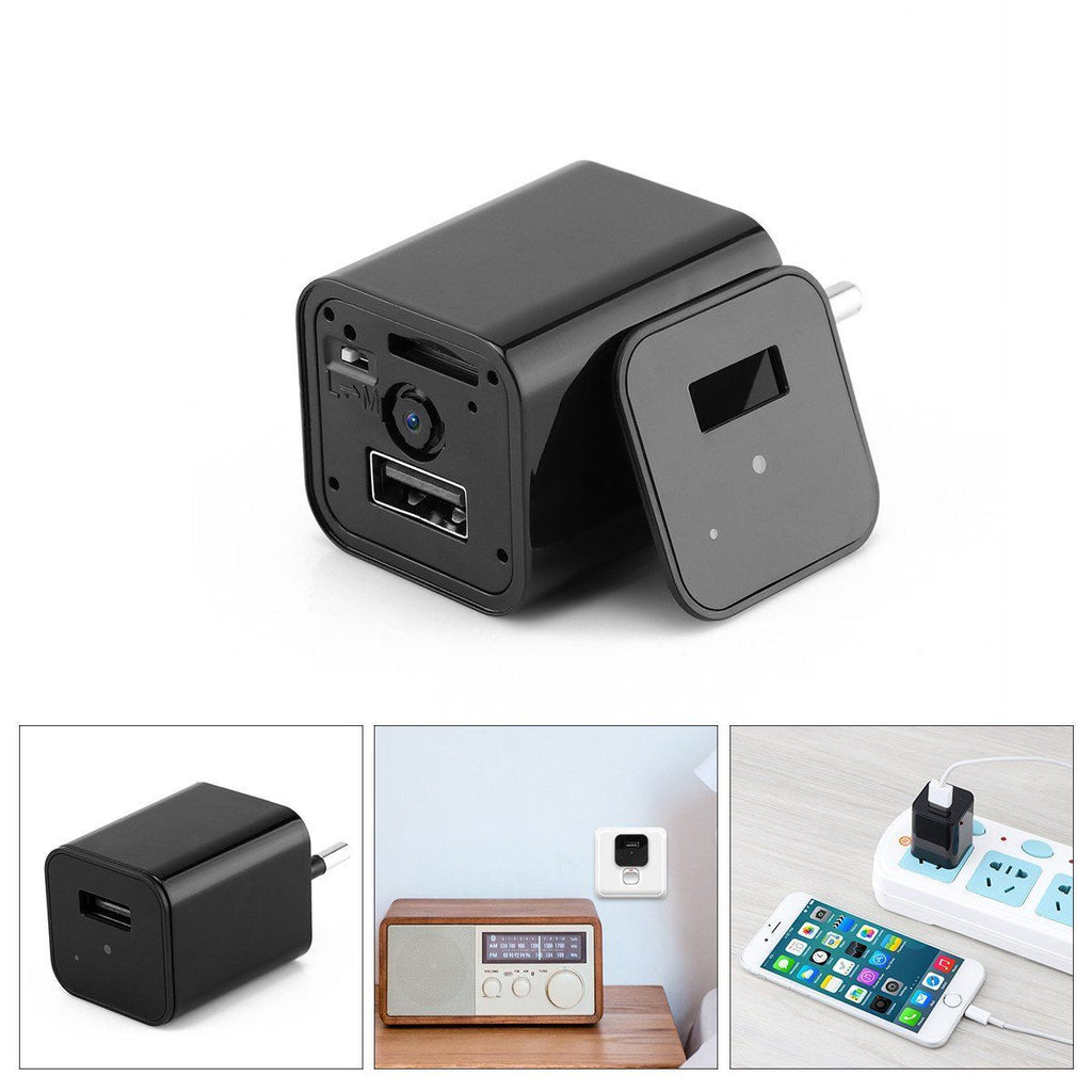 Invisible Spy Camera & USB Charger- HD 1080P (32GB Memory Card Optional) - Hooked On Saving