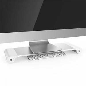 Office Desktop Space Saver and USB Charging Dock - Hooked On Saving