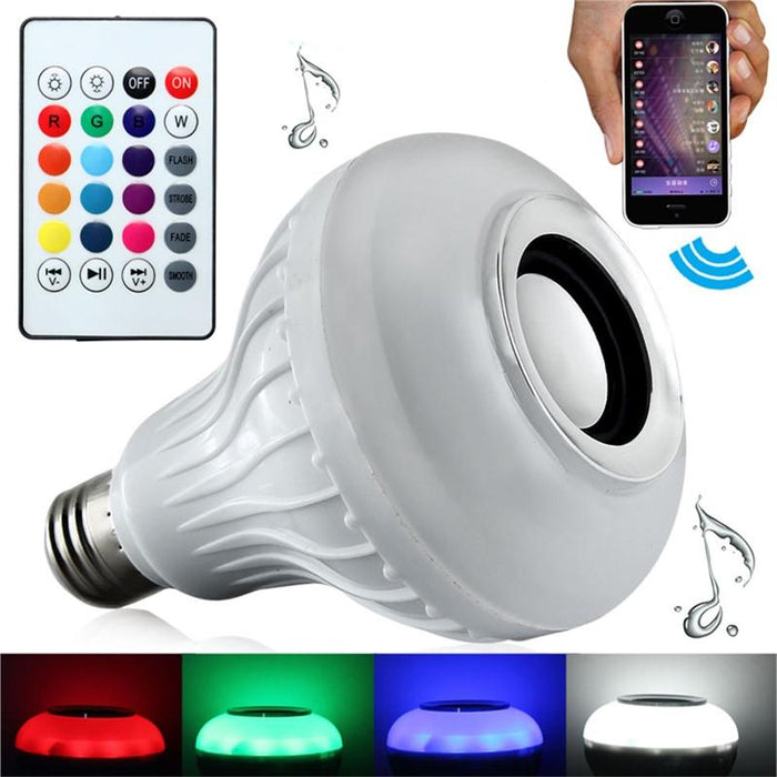 Party LED Light Bulb with Built-In Bluetooth Speaker