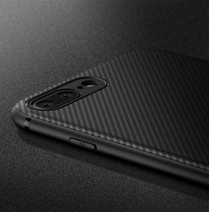 Silicone Phone Case With Sleek Carbon Fiber Finish For iPhone - Hooked On Saving