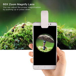 Universal 60X Magnifying Macro Lens With LED Light for Smart Phones - Hooked On Saving