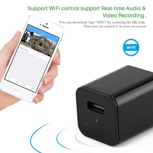 WiFi Invisible Spy Camera & USB Charger- HD 1080P (Memory Card Optional) - Hooked On Saving