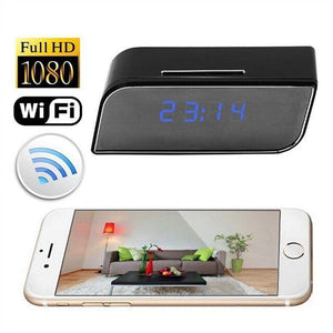Wireless WiFi HD Spy Camera Digital Clock - Hooked On Saving