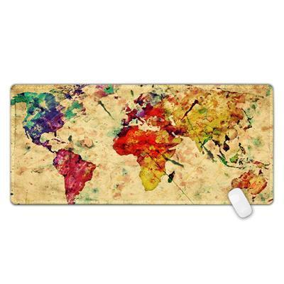 XL Large World Map Gaming Mouse Pad - Hooked On Saving